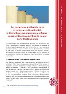 Protezione ambientale a costi sostenibili